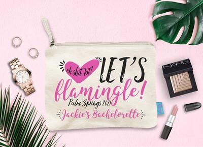 Let's Flamingle Oh Shit Kit Bachelorette Party Makeup Cosmetic Bag