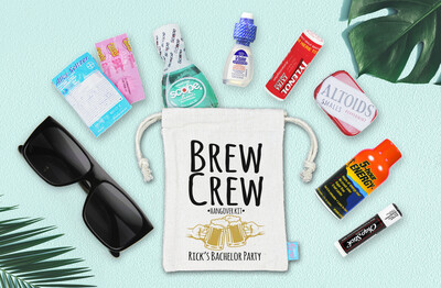Bachelor Party Hangover Recovery Kit - Bachelor Groomsmen Favor -  Brew Crew Recovery Kit