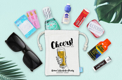 Bachelor Party Hangover Recovery Kit - Bachelor Groomsmen Favor -  Cheers Brews Recovery Kit