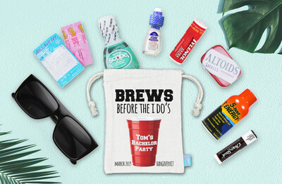 Bachelor Party Hangover Recovery Kit - Bachelor Groomsmen Favor -  Brews Before I Dos Recovery Kit