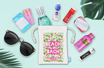 Beach Bach Tropical Floral Bachelorette Beach Party Hangover Kit