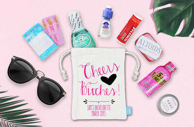 Cheers Bitches -Bachelorette Hangover Favor Bag