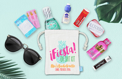 Fiesta Oh Shit Kit Mexico Bachelorette Favor Bag