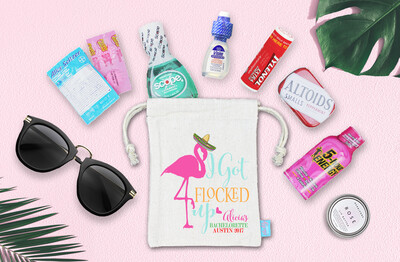 I Got Flocked Up Mexico Bachelorette Favor Bag
