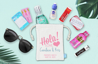 Hola Destination Wedding Welcome Favor Bag