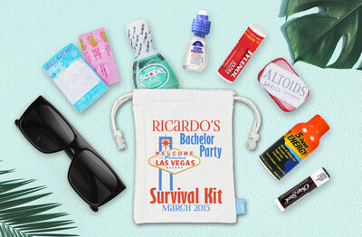 Las Vegas Bachelor Party Hangover Recovery Kit - Bachelor Groomsmen Favor -  Las Vegas Recovery Kit