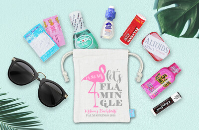 Lets Flamingle Oh Shit Kit Palm Springs Bachelorette Favor Bag
