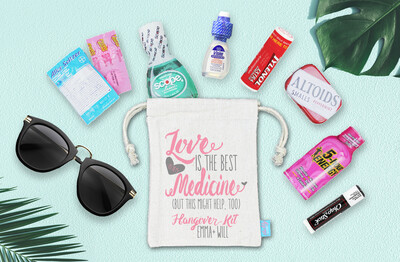 Love Is Best Medicine -Wedding Hangover Favor Bag