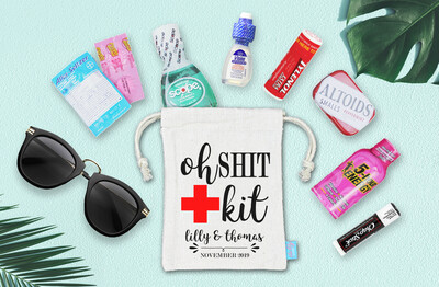 Oh Shit Kit Fancy Wedding Bachelorette Hangover Favor Bag