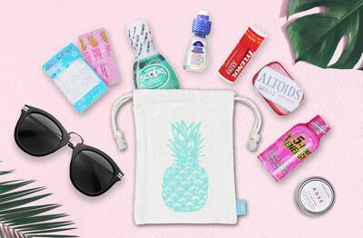 Pineapple Retro Bachelorette Wedding Favor Bag