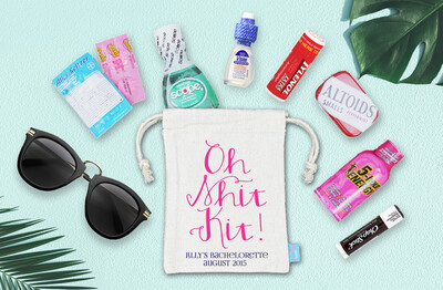 Oh Shit Kit -Bachelorette Hangover Favor Bag