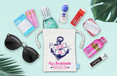 Oh Shit Kit Anchor Bachelorette Hangover Favor Bag
