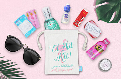 Oh Shit Kit Palm Springs Bachelorette Favor Bag