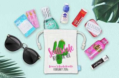Scottsdale Before the Veil Bachelorette Hangover Kit Favor Bag