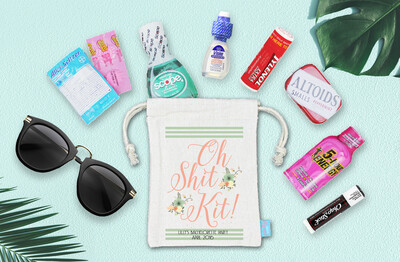 Vinatage Oh Shit Kit -Bachelorette Favor Bag