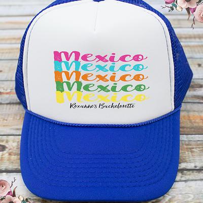 Multi Colored Mexico Destination Bachelorette Party Trucker Hat