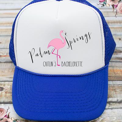 Palm Springs Flamingo Bachelorette Party Trucker Hat