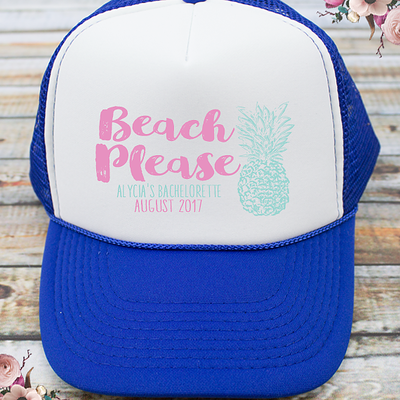Beach Please Beach Bachelorette Party Trucker Hat