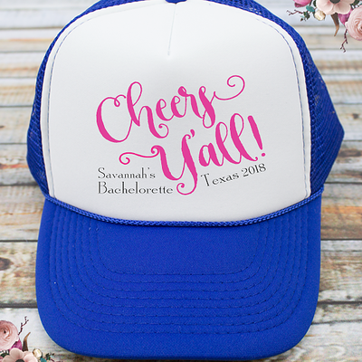 Cheers Y'all Nashville Country Bachelorette -Bachelorette Party Trucker Hat