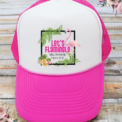 Let's Flamingle Flamingo Bachelorette Party Trucker Hat