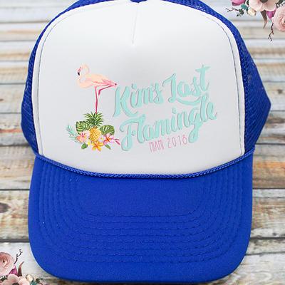 Last Flamingle Flamingo Bachelorette Party Trucker Hat