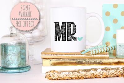 Mister Mr Heart Wedding Mug