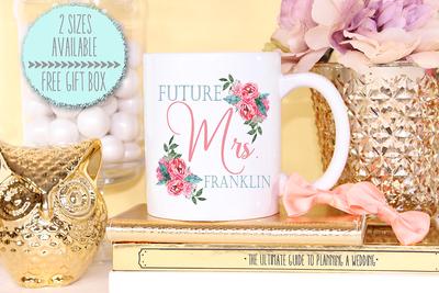 Future Mrs Floral Wedding Engagement Mug