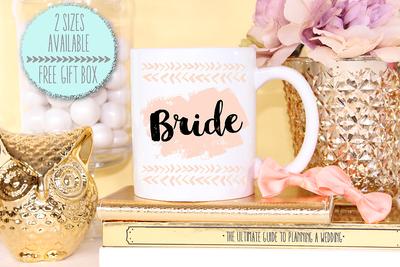 Funky Modern Bride Wedding Engagement Mug