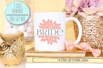 Floral Flower Bride Wedding Engagement Mug