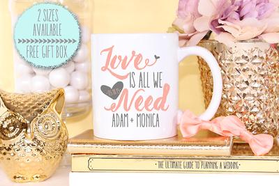 Personalized Love Is All We Need Wedding Mug