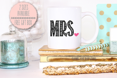Mrs Heart Wedding Mug