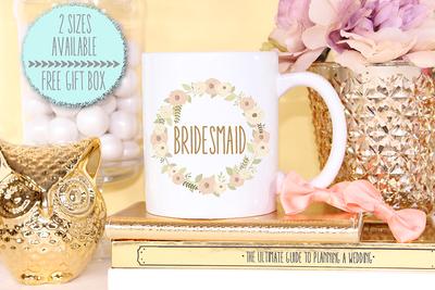 Floral Bridesmaid -Bridal Party Mug