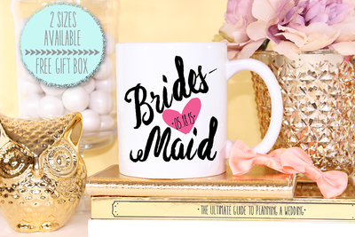Bridesmaid Personalized Heart -Bridal Party Mug