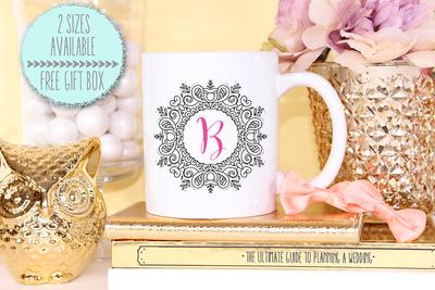 Framed Initial -Bridal Party Mug
