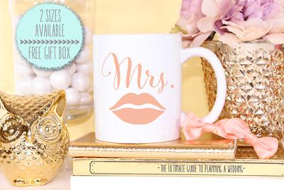 Mrs Lips Wedding Mug