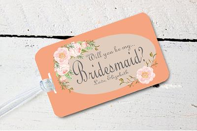 Will You Be My Bridesmaid Destination Wedding Luggage Tag