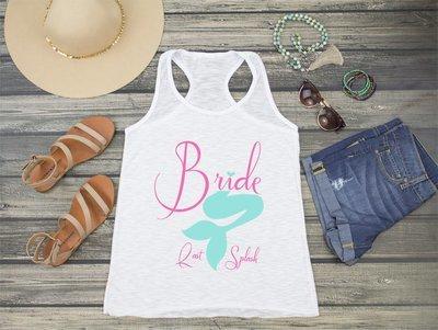 Bride Mermaid Last Splash Racerback Tank Top