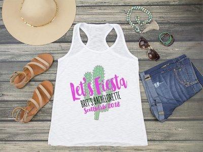 Let's Fietsa Racerback Tank Top -Scottsdale Mexico Bachelorette Party