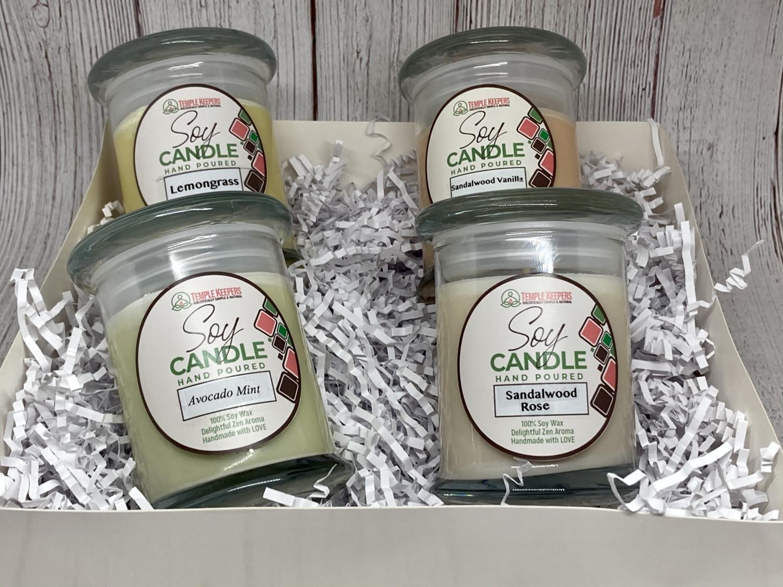 Holiday Soy Candle Bundle- Set of four - 8 oz