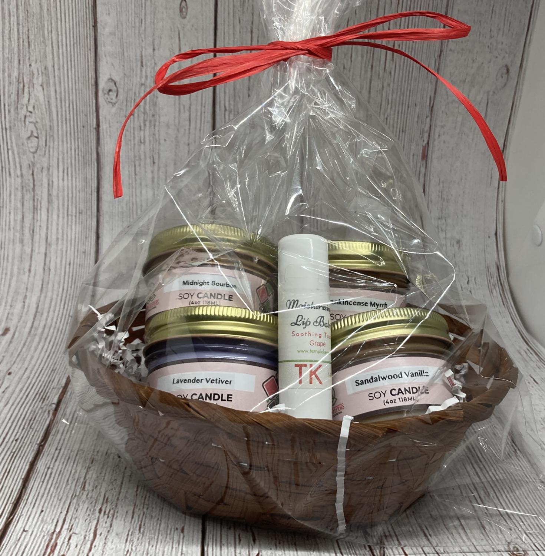 Entrepreneur Special 2020 - Soy Candle Gift Basket - 4 oz.