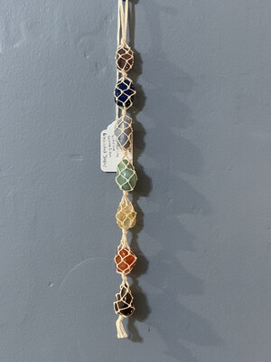 7 stone Chakra Rearview Mirror/Wall Decorative