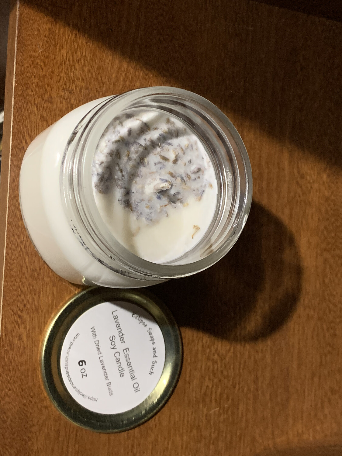 Lavender Essential Oil Soy Candle 6oz