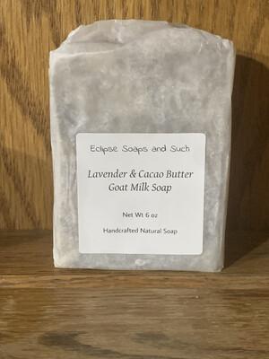 Lavender  & Cacao Butter Goat milk soap 5oz