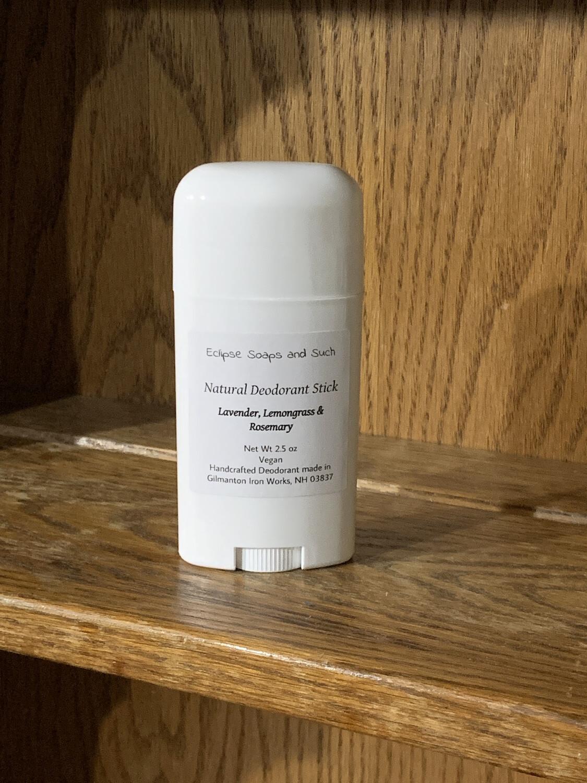 Natural Deodorant Lavender, Lemongrass & Rosemary 2.5oz