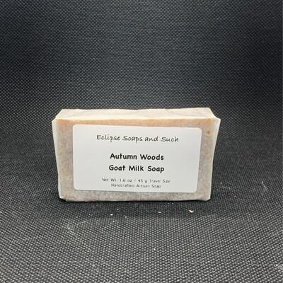 Autumn Woods Goat Milk Soap Travel Size 1oz