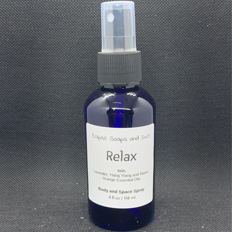 Relax Body & Space Spray 4oz
