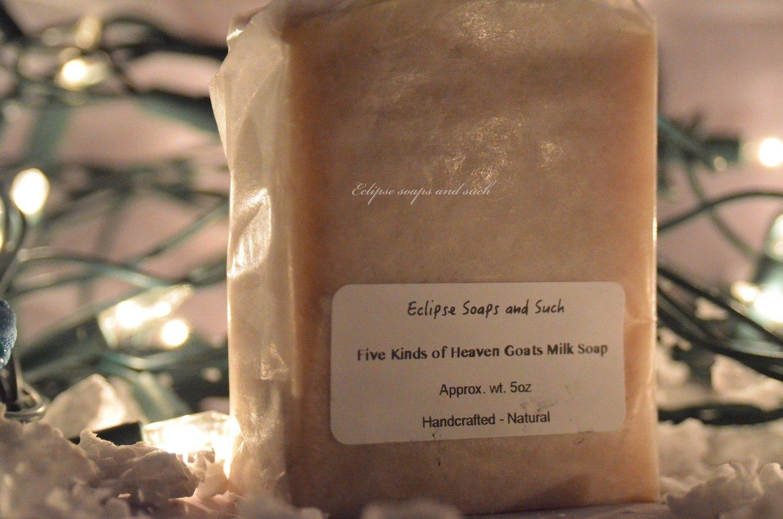 Five Kinds of Heaven Goats Milk Soap 5oz
