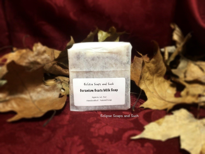 Geranium Goat Milk Soap 5oz