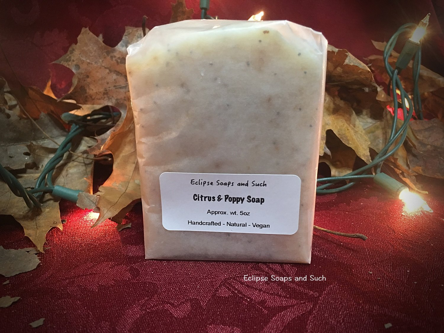 Citrus & Poppy Soap 5oz Vegan Friendly