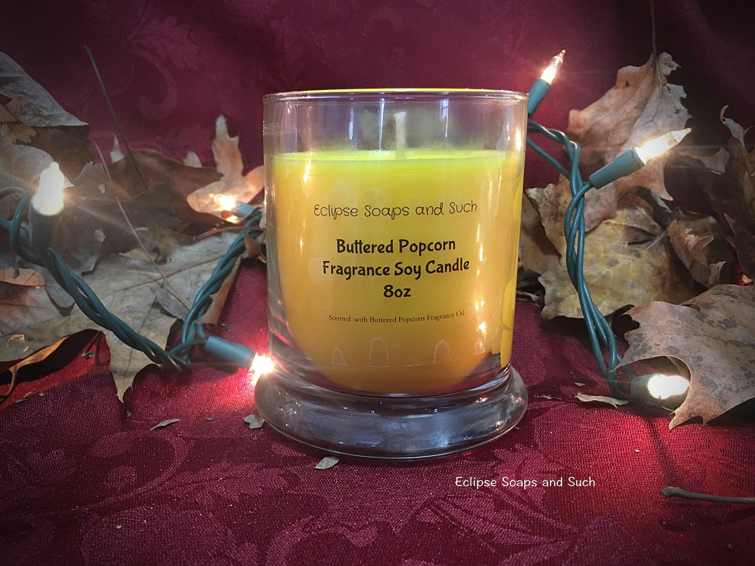 Buttered Popcorn Scented Soy Candle 8oz